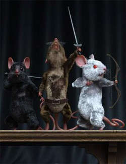Warrior Mouse Hierarchical Poses for Storybook Mouse