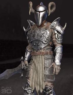 dForce Death Fighter Armor for Genesis 8 Males