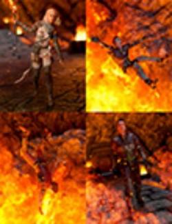 Terror Beneath Fire Mountain Poses