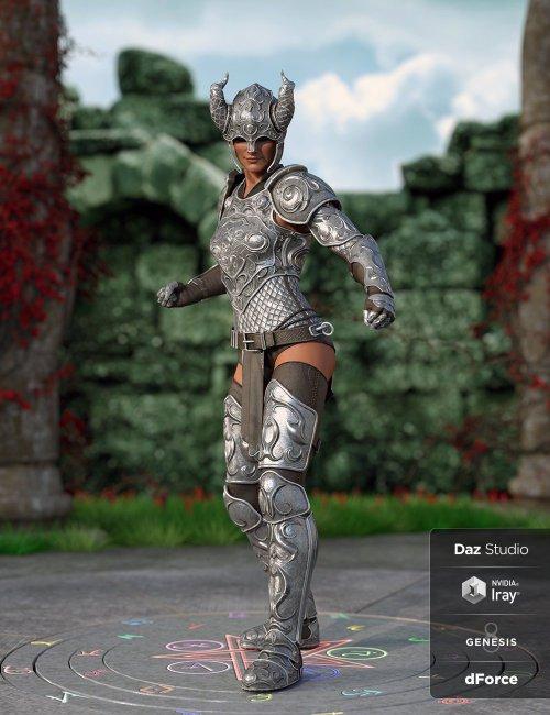 dForce Valiant Armor for Genesis 8 and 8.1 Females