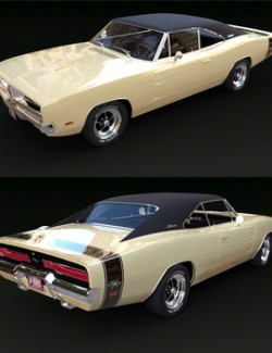 DODGE CHARGER RT 1969 for DAZ Studio