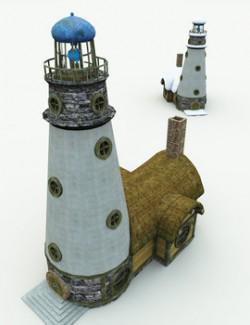 Halfling Village Lighthouse for Poser