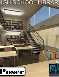 High School Library for Poser
