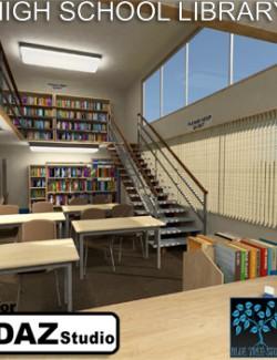 High School Library for Daz
