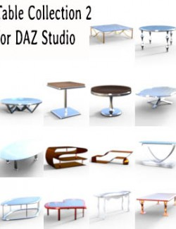 Table Collection 2 for DAZ Studio