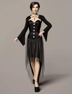 dForce Dark Vamp Outfit for Genesis 8 and 8.1 Females