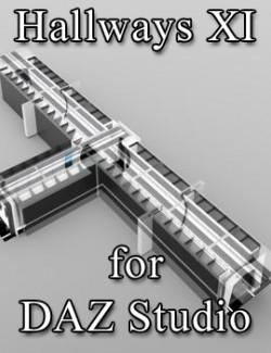 Hallways XI for DAZ Studio