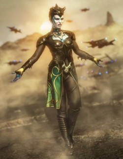 Alien Sentinel Outfit for Genesis 8 Females