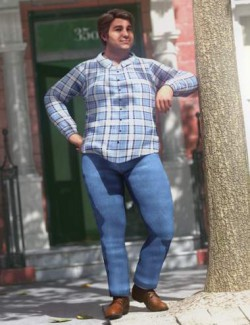 dForce Casual Flannel Outfit for Genesis 8.1 Male