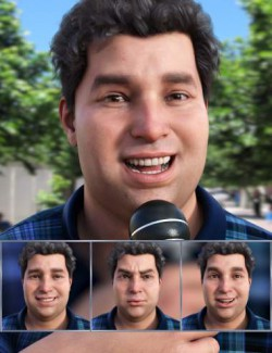 The Reporter - Expressions for Genesis 8.1 Male and Fred 8.1