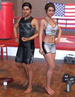 IM Sweat to Fit Poses for Genesis 8 Females and Genesis 8 Males