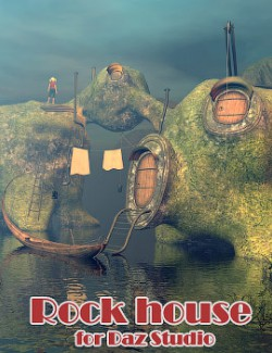 Rock house for Daz Studio