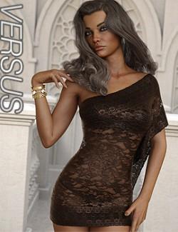 VERSUS- dForce One Sided Dress for Genesis 8 Females