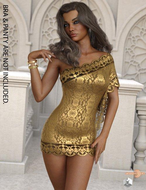 VERSUS - dForce One Sided Dress for Genesis 8 Females