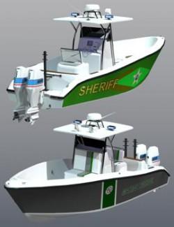 Marine Interceptor Boat for Poser