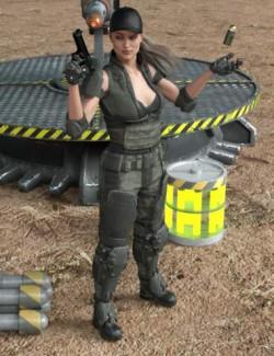 Mercenary Poses For Genesis 8 Female