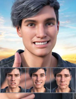 New Faces Expressions for Genesis 8.1 Male and Michael 8.1