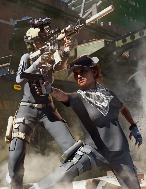 Modern Military Outfit for Genesis 8 Females