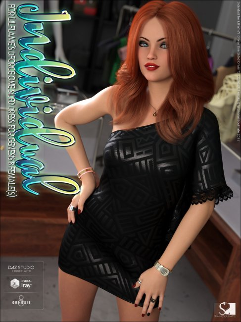 Individual for dForce One Sided Dress for Genesis 8 Female(s)