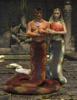 Lamia Mania - Textures for Lamia Tail and Clothes