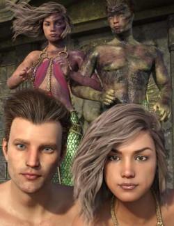 Lamia Mania - Genesis 8 Faces and Lamia Top Skin