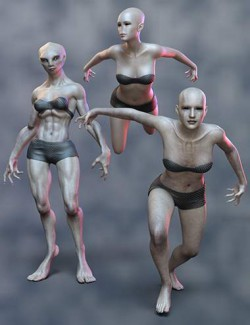 AB Mixed Alien Poses for Genesis 8.1 Female and Delpyune HD