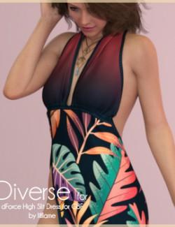 Diverse for dForce High Slit Dress