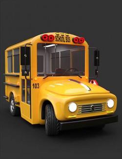 Toon School Bus Iray Add-On