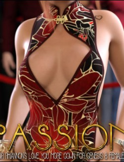 Passion for Love You More Gown for Genesis 8 Females