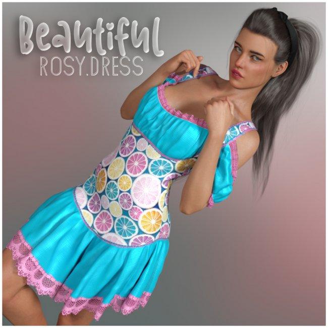 Beautiful Rosy Dress G8F