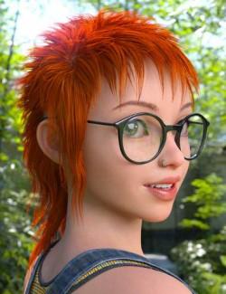 dForce Mod Punk Hair for Genesis 8 Females