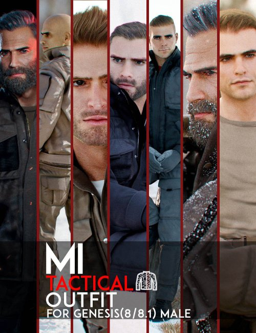 MI Tactical Outfit for Genesis 8 and 8.1 Males