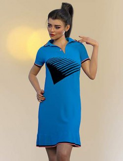 dForce Amanda Tennis Dress for Genesis 8 and 8.1 Females