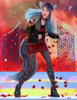 dForce Poison Love Outfit Textures