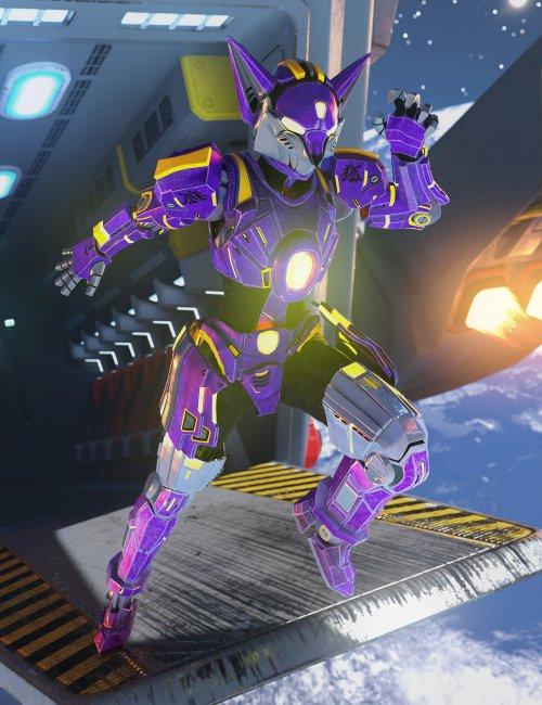 Kitsune Mech Armor for Genesis 8 and 8.1 Females