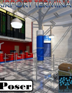 Airport Terminal for Poser