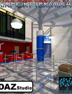 Airport Terminal for Daz