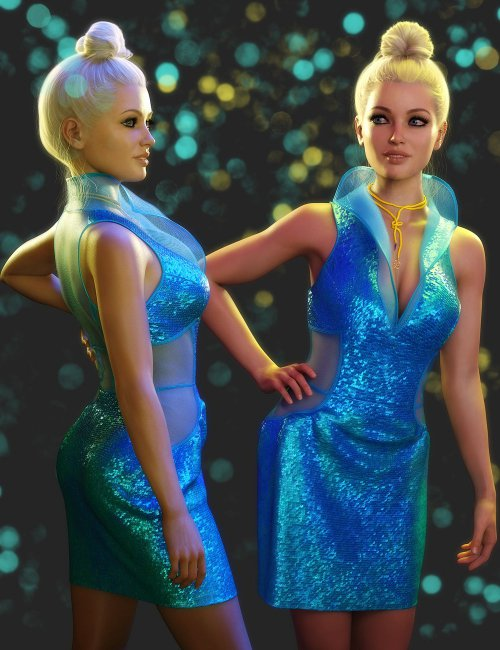 dForce Sizzler Outfit for Genesis 8 Females