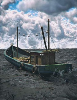 Wood Fishing Boat