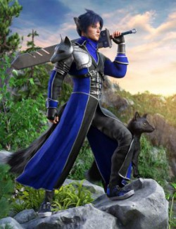 dForce Azurite Outfit for Genesis 8 and 8.1 Males