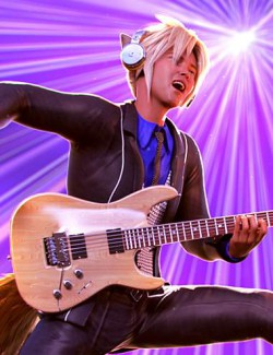 Guitar Animations for Genesis 8.1 Male and Kota 8.1