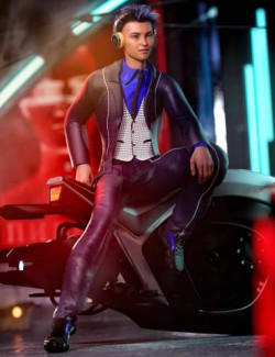 dForce Flow Outfit for Genesis 8.1 Male and Kota 8.1