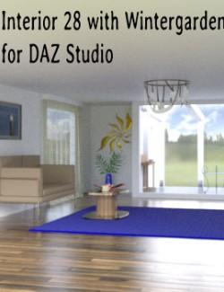 Interior 28 with Wintergarden for DAZ Studio