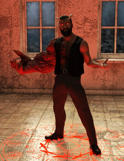 Demon King Poses For Genesis 8.1 Male