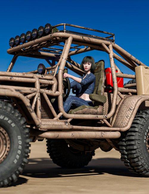 Snake Wrangler Truck Poses for Genesis 8 and 8.1