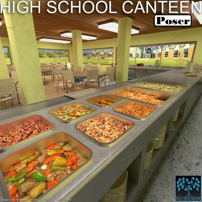 High School Canteen for Poser