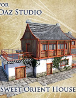 Sweet Orient House for Daz Studio