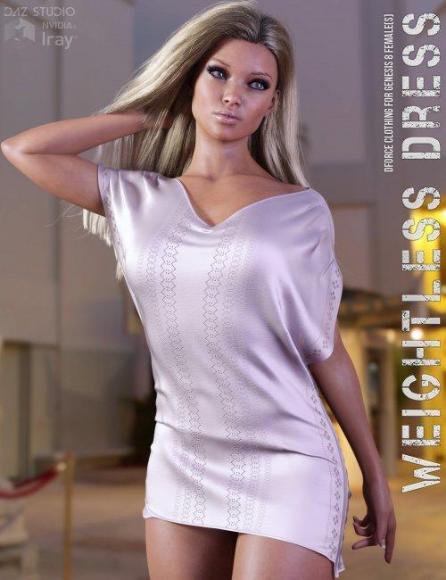 dForce Weightless Dress for Genesis 8 Females
