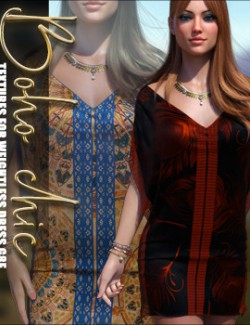 Boho Chic Textures for dForce Weightless Dress G8F