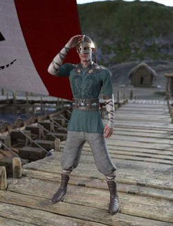 dForce Viking Commoner Outfit for Genesis 8 and Genesis 8.1 Males